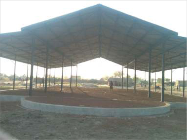 Photo of unfinished cathedral in Aweil, South Sudan