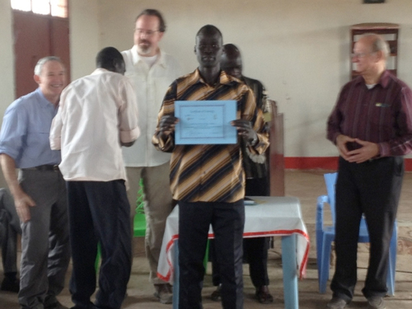 We invite you to support the partnership of Abraham Nhial, Bishop of the Diocese of Aweil and Abyei, South Sudan and the Dunamis Institute, a ministry of Presbyterian-Reformed Ministries International (PRMI).  This partnership is equipping spiritual leaders in South Sudan Christian churches to work for the advancement of the Kingdom of God as centered in Jesus Christ as the way, the truth, and the life and empowered and led by the Holy Spirit.  You can make a difference in spreading the Gospel in Africa.  To support the teaching and training through the Dunamis Project, please send your contributions to PRMI, PO Box 429, Black Mountain, NC 28711-0429;  or give online at www.prmi.org/donate.  Please designate your funds as the South Sudan Dunamis Fund.  Presbyterian-Reformed Ministries International - Dunamis Project teaching and leadership development  Global Leadership Dynamics - Leadership Development and Alpha course training  South Sudanese priest receives certificate of completion for having attended the Dunamis Project Gateways Course and Alpha Training.mis Project Gateways Course and Alpha Training.